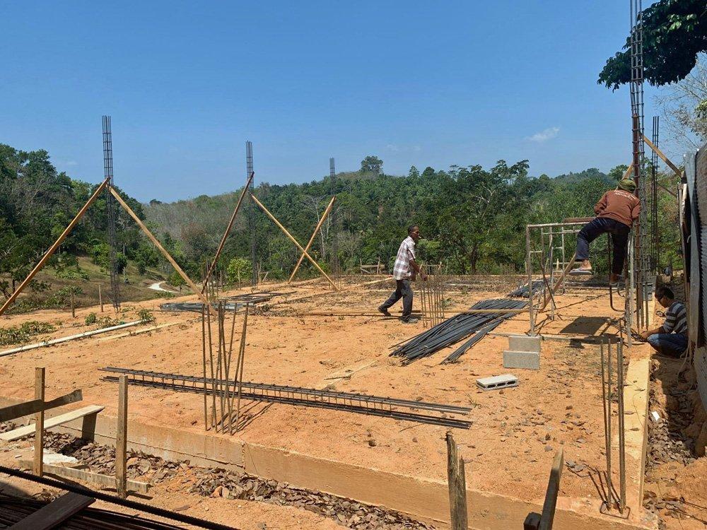 the elephant barn at Ban Ton Sae